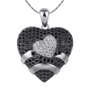 Fancy Double Heart Pendant