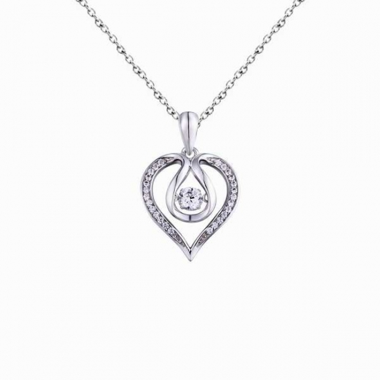 Collana in argento sterling 925 realizzata con aaa cubic zirconia